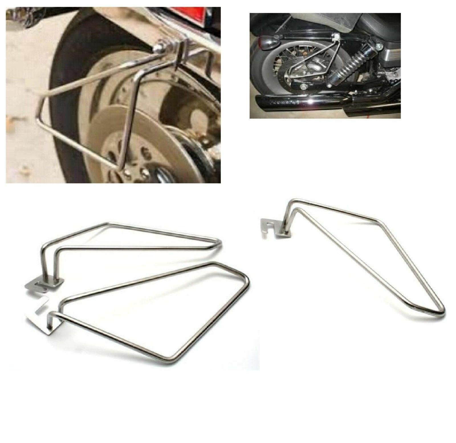 Motorcycle Saddlebag Support Brackets Set for  Cruise Dyna 883 Auto Motorcycle Frame Saddle Bag Mount Brackets Kit  Plating