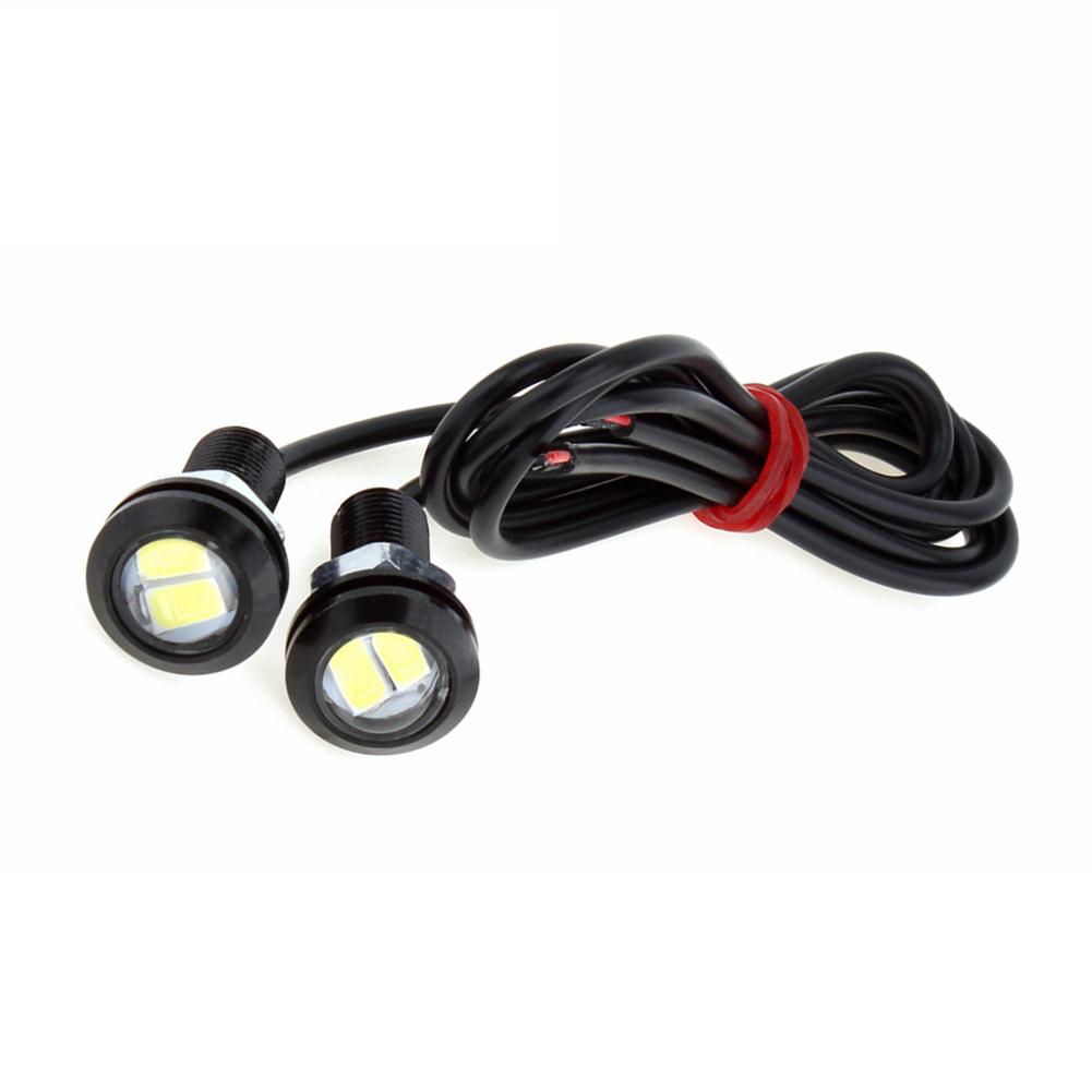 18MM Eagle Eye Light Car Auto LED Light 5730 2SMD 12V 2W Fog Tail Lamp Waterproof Reverse Lamp black