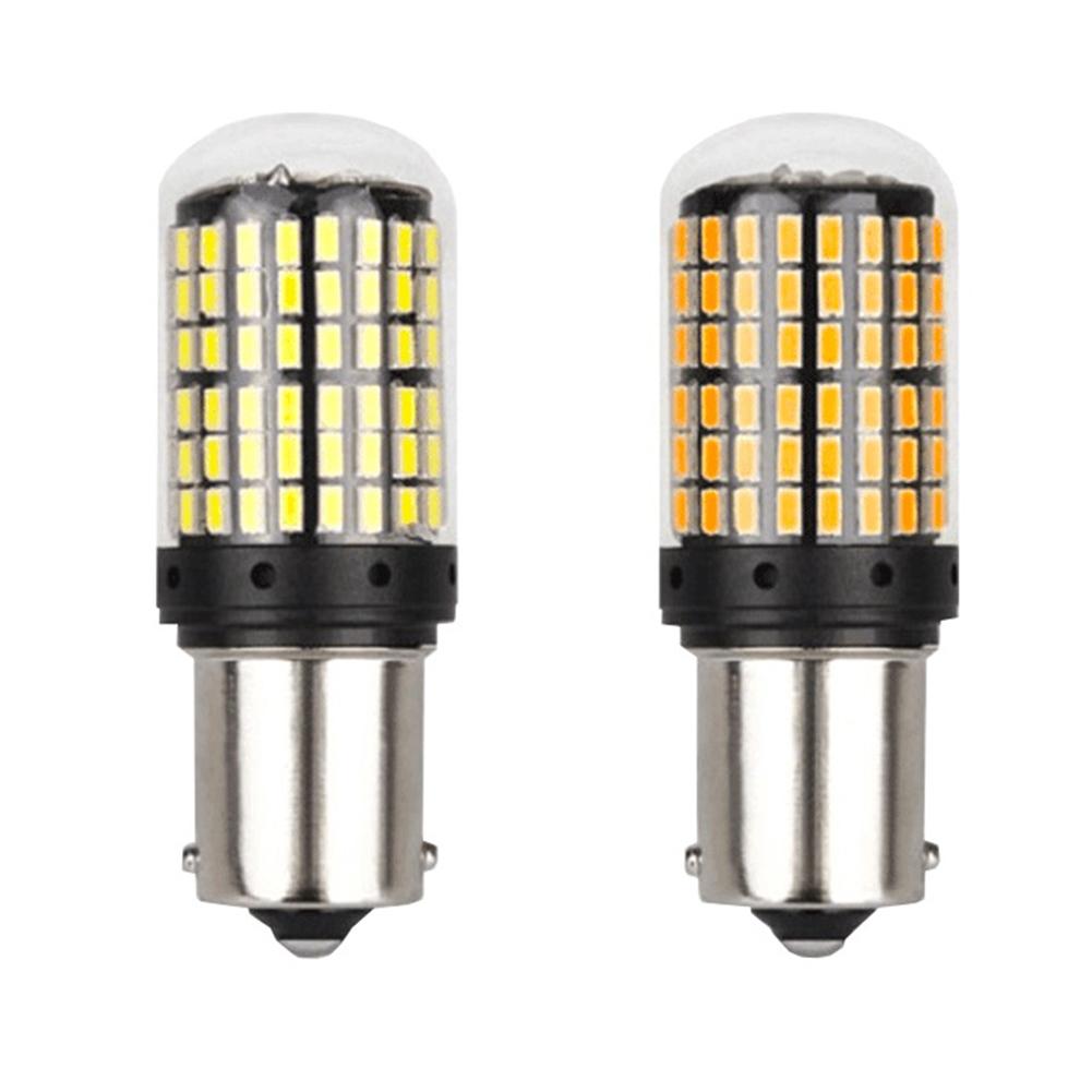 Car LED Turn Signal 7440 3014 144SDM Highlighting Reversing Light Decoding Constant Current 1156 1156-white (12-30V)