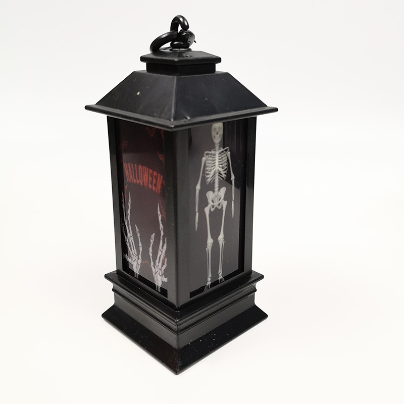 LED Seven Colours Change Desktop Vintage Style Hanging Lamp for Halloween Decoration Prop 14x5.2cm