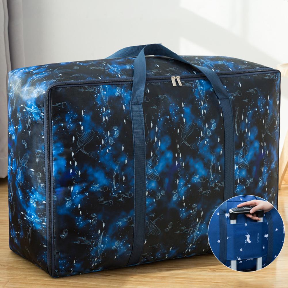 Multifunction Large Capacity Luggage Handbag for Travel Storage Black heart fish_Large size (58*38*22cm)