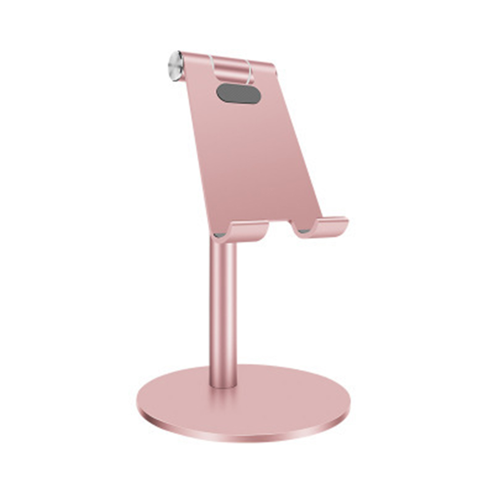 Simple Aluminum Alloy Lifting Adjustment Desktop Lazy Multi-function Mobile Phone Tablet Bracket Stand Rose gold