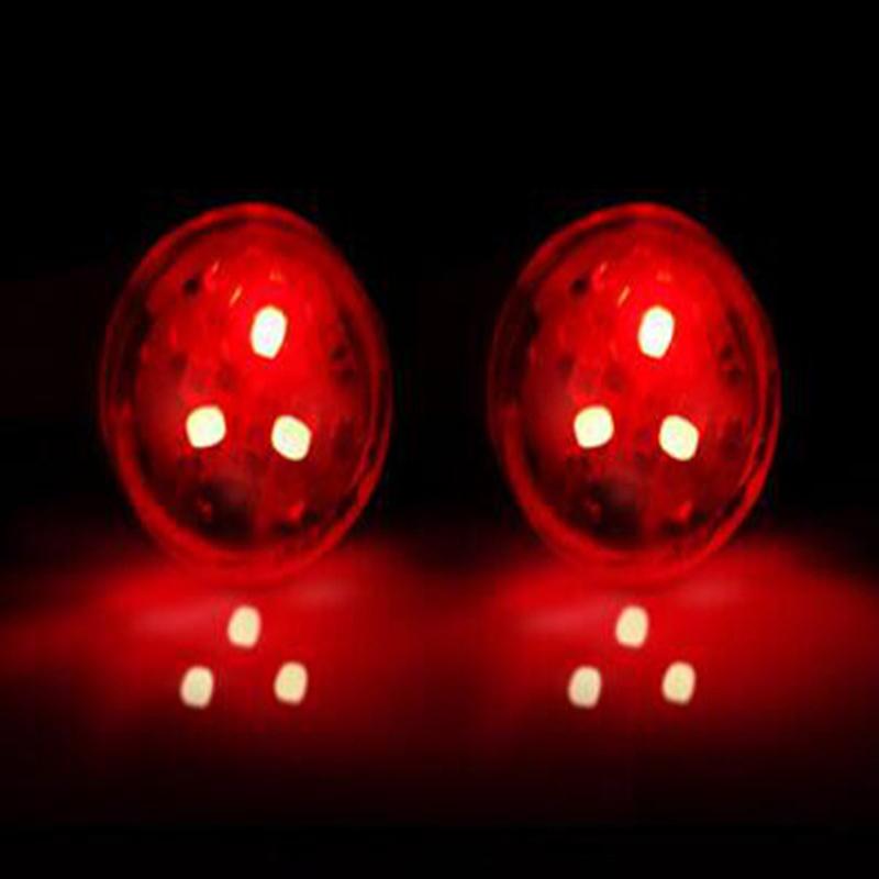 2pcs Universal Car Door LED Opening Warning Lamp Safe Flash Light Red Kit red