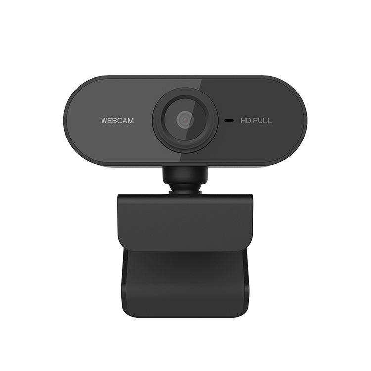 High-definition Camera 1080p Rotatable Cameras Webcam Mini Computer Pc Web Camera black