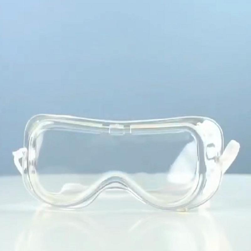 Adjustable Anti-droplets Goggles Anti Flu Glasses High Definition Eyewear Transparent
