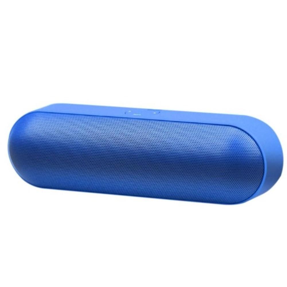 Capsule Pill Wireless Bluetooth Insert Card Mini Speaker Portable Subwoofer Speaker blue