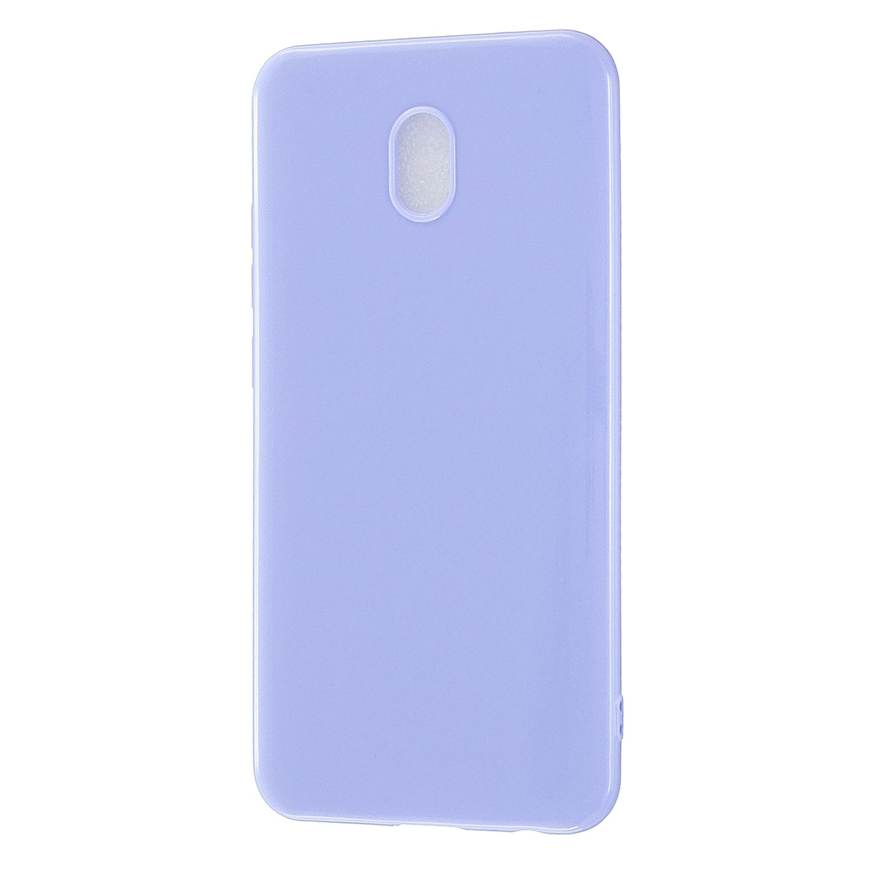 For Redmi 8 / Redmi 8A Cellphone Cover Glossy TPU Phone Case Defender Full Body Protection Smartphone Shell Taro purple