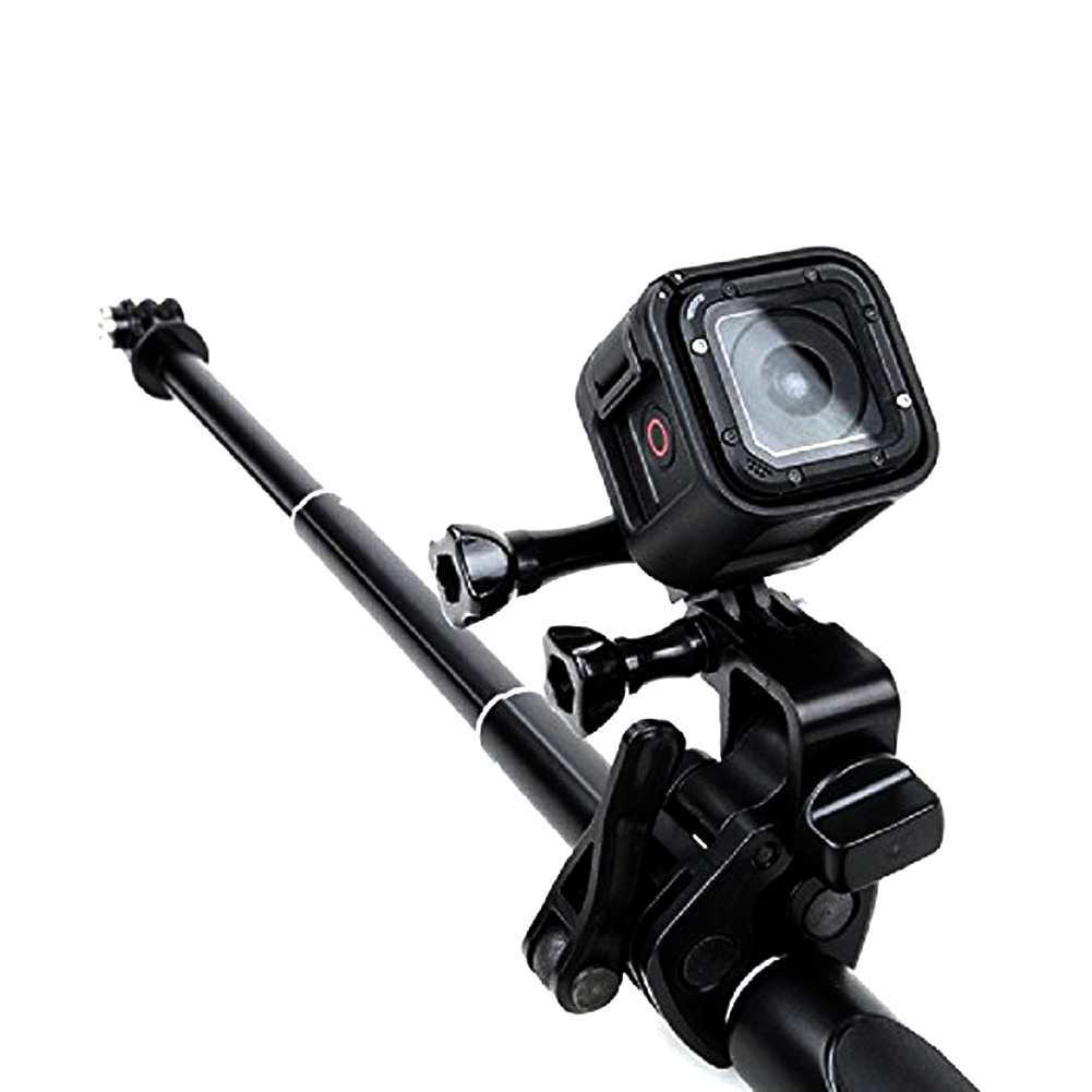 Universal Clamp Clip Mount for Gun / Fishing Rod / Bow Fixing for GoPro Hero Sports Action Cameras  black