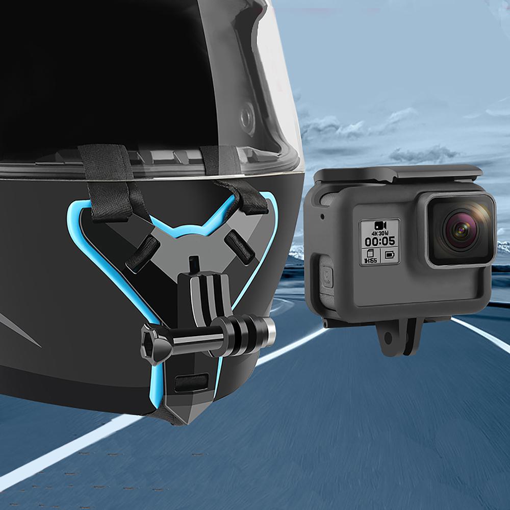 Motorcycle Helmet Camera Stand Integral Design for GOPRO Hero7/5 Yi Sargo SJ Cameras  black