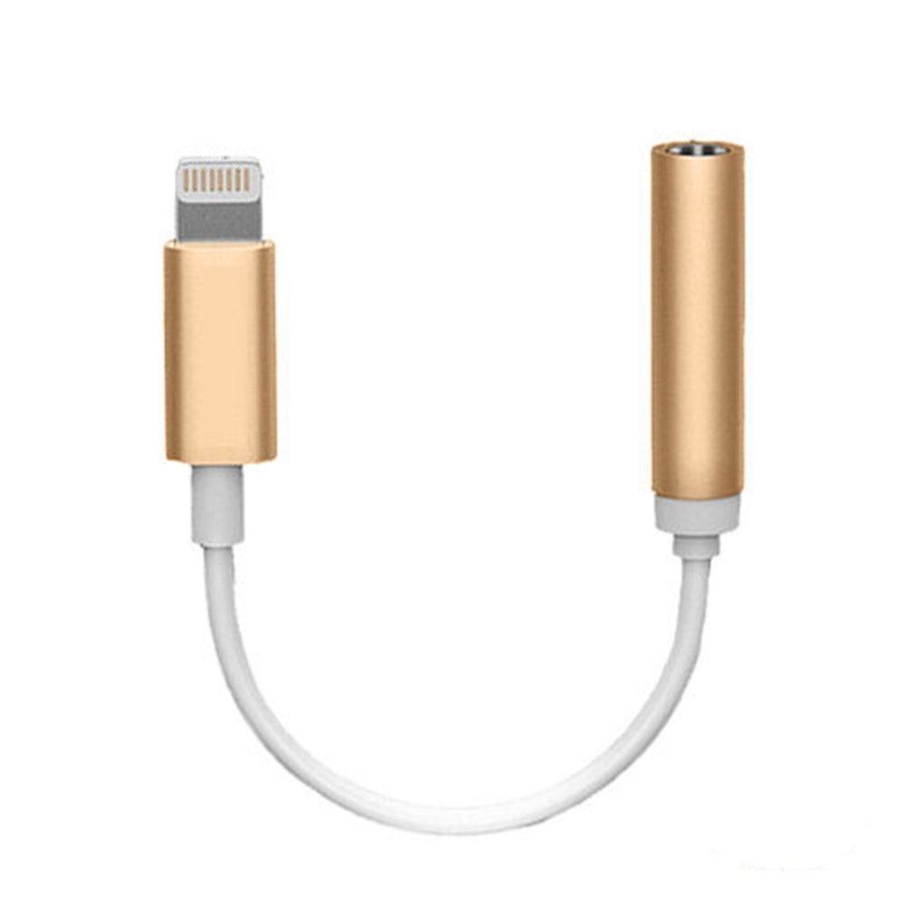 Headphone Adapter Connector Cable Gold