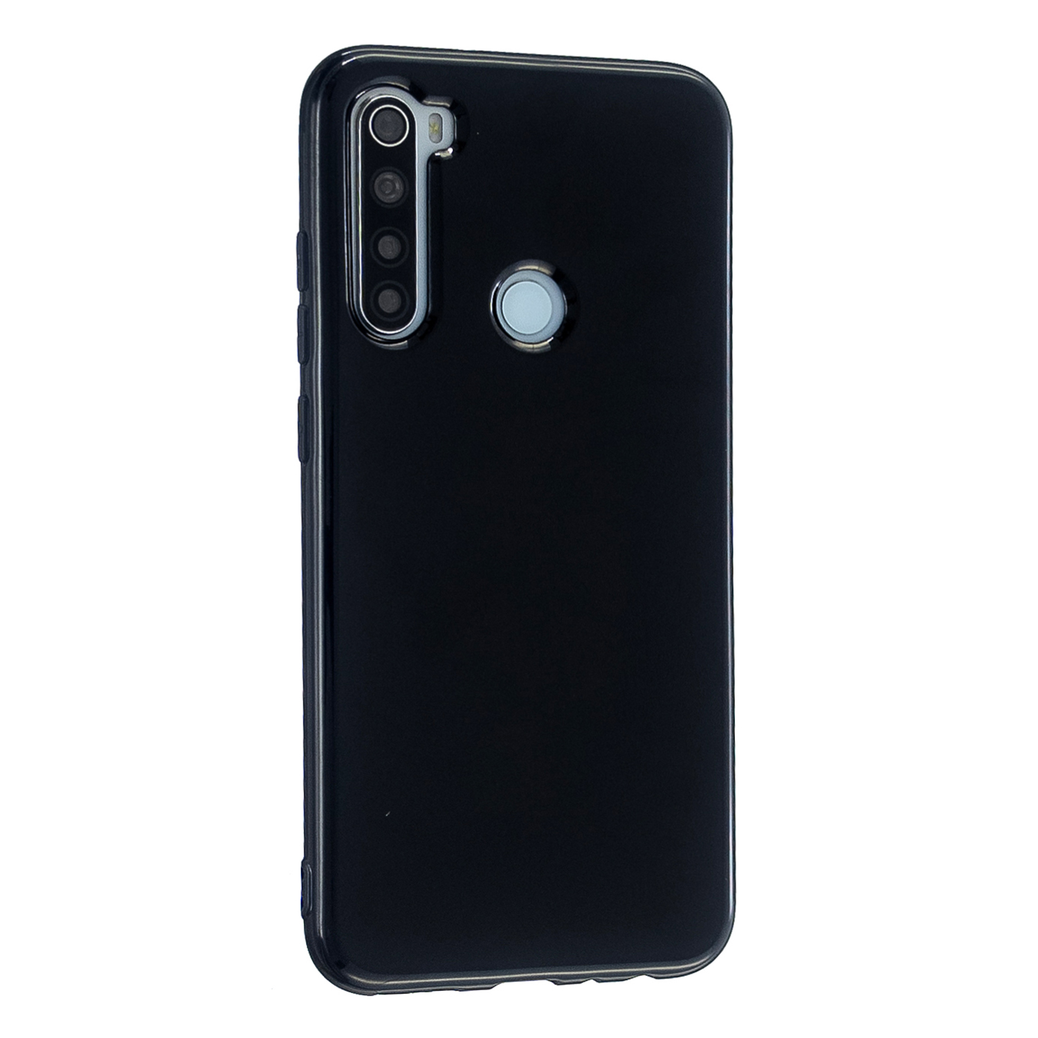 For Redmi Note 8/8 Pro Cellphone Cover 2.0mm Thickened TPU Case Camera Protector Anti-Scratch Soft Phone Shell Black