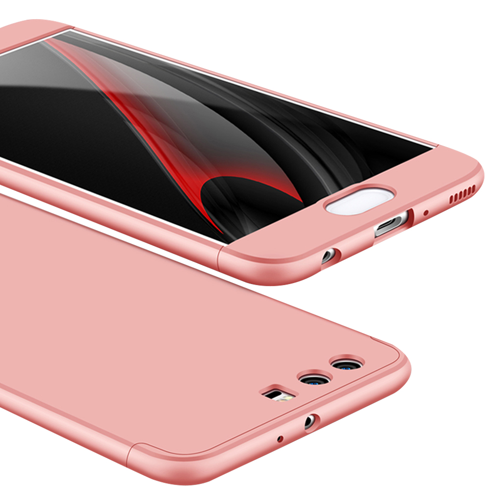 For HUAWEI P10 Plus Ultra Slim Back Cover Non-slip Shockproof 360 Degree Full Protective Case Rose gold