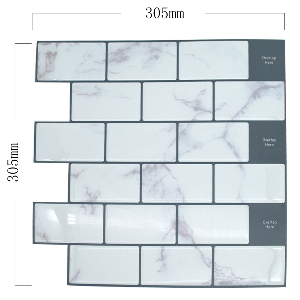 Waterproof Self-adhesive 3D Wall Sticker DIY Kitchen Bathroom Dormitory Furniture YJC0073Y