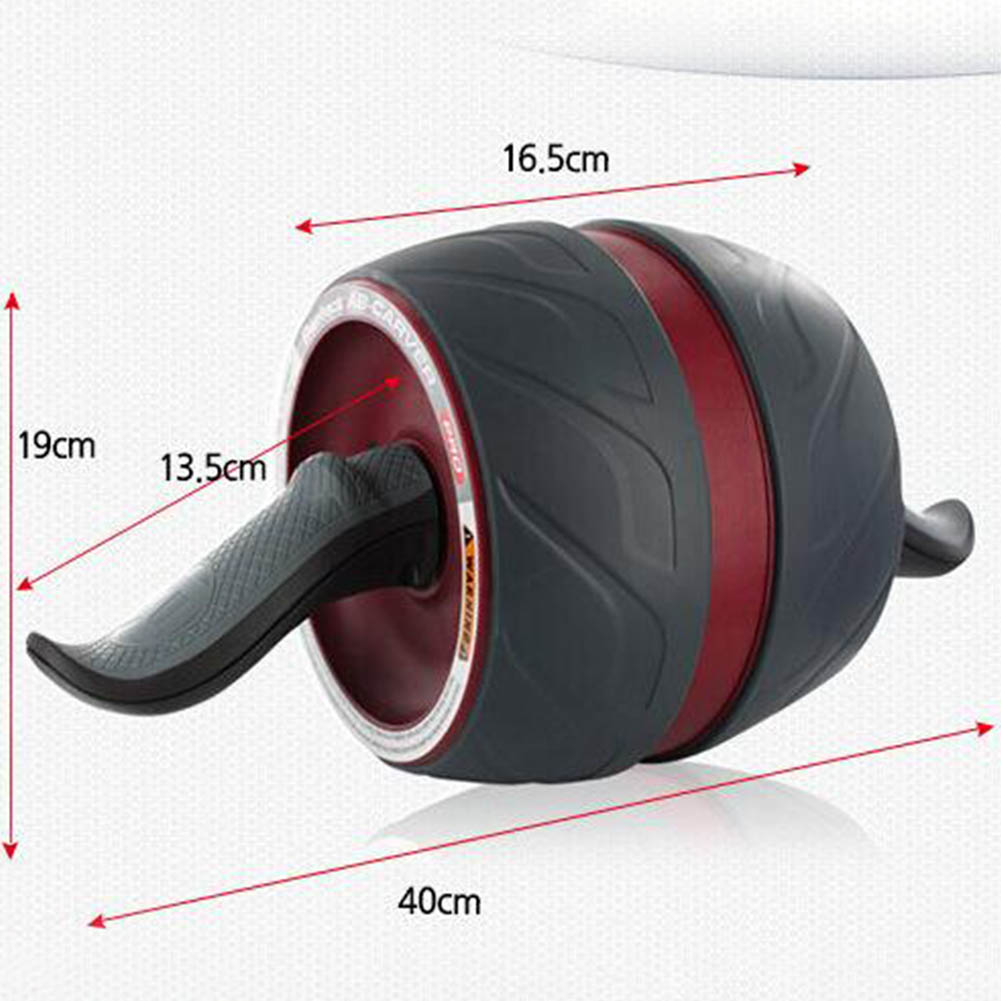 Abdominal Muscle Training Wheel Fitness Roller for Waist Strength Exercise Equipment red