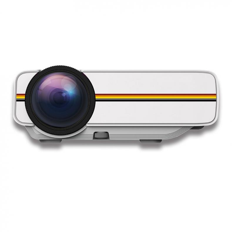YG400 Universal HD Portable Homehold Multimedia Projector with Built-in Loudspeaker Support 100inch Large Screen Projection white_regular version