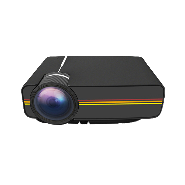 YG400 Universal HD Portable Homehold Multimedia Projector with Built-in Loudspeaker Support 100inch Large Screen Projection black_regular version