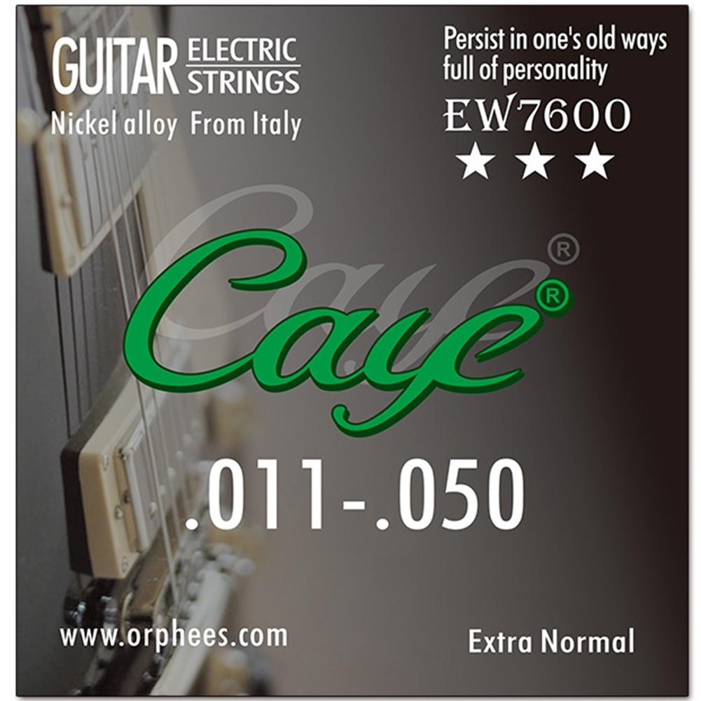 Caye EW Series 6 Pcs Electric Guitar Strings Hexagonal Carbon Steel Nickel Plating Guitar String EW7600