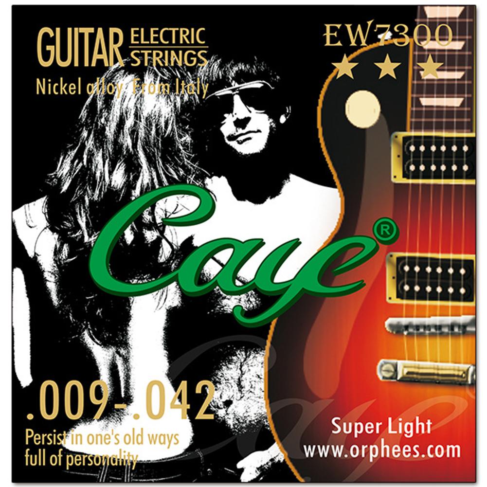 Caye EW Series 6 Pcs Electric Guitar Strings Hexagonal Carbon Steel Nickel Plating Guitar String EW7300