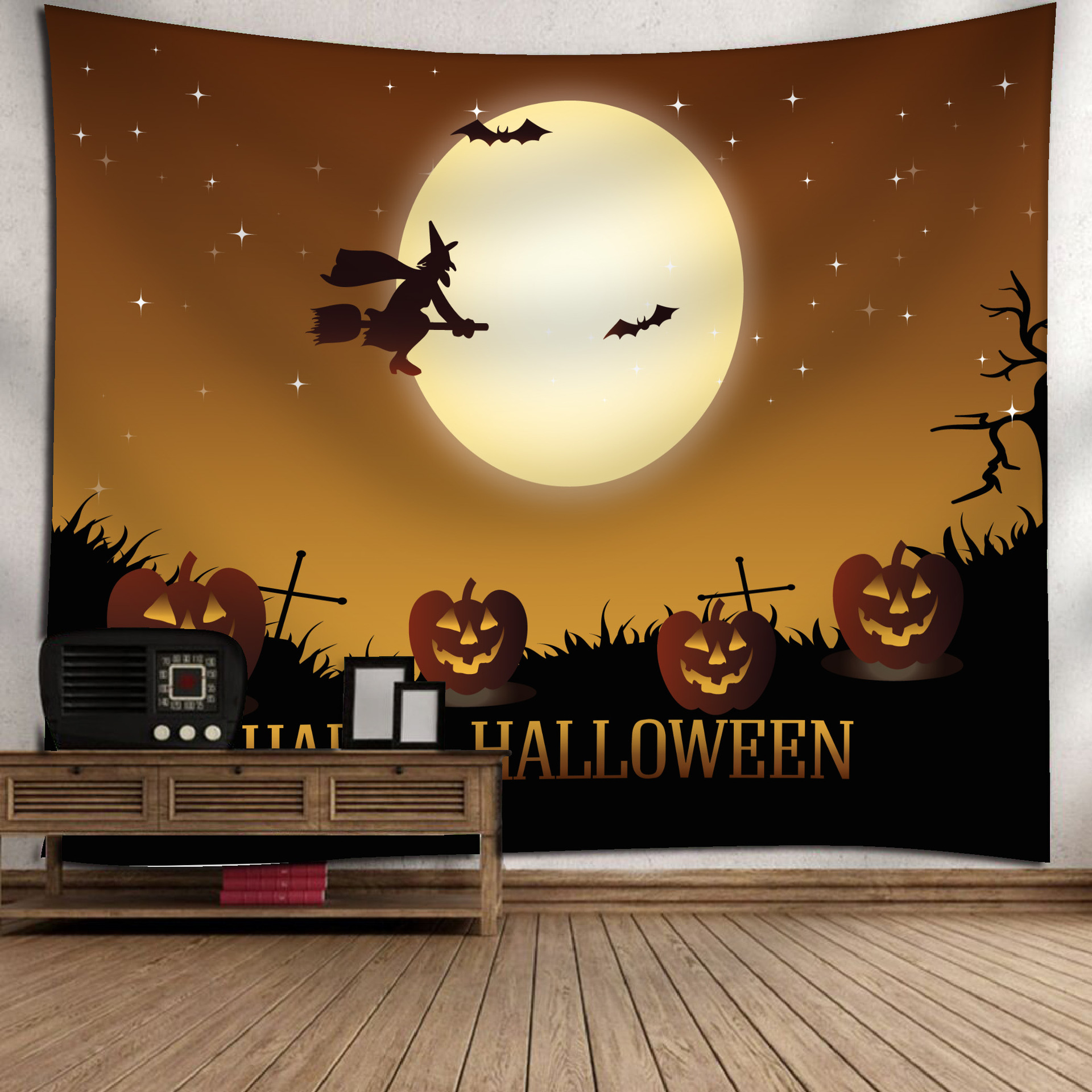 Fashion Halloween Hanging Home Tapestry Wall Decoration 1_150*130