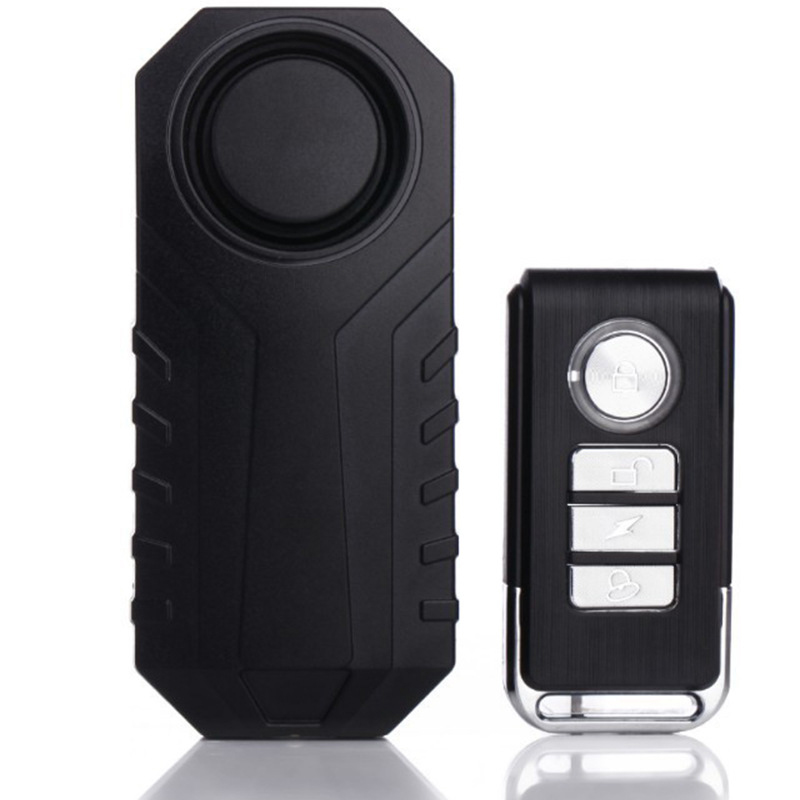 Wireless Remote Control Vibration Alarm Free Installation Bicycle Motorcycle Home Anti-theft Alarm One to one