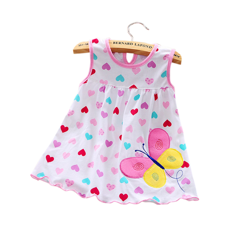 Newborn Baby SleevelessDress -Love butterfly