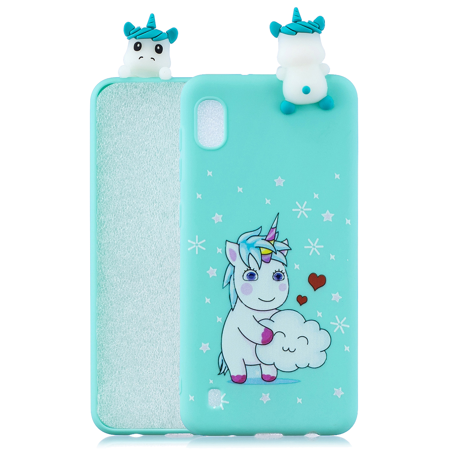 For Samsung A01 Soft TPU Case Back Cover 3D Cartoon Painting Mobile Phone Shell Love Unicorn