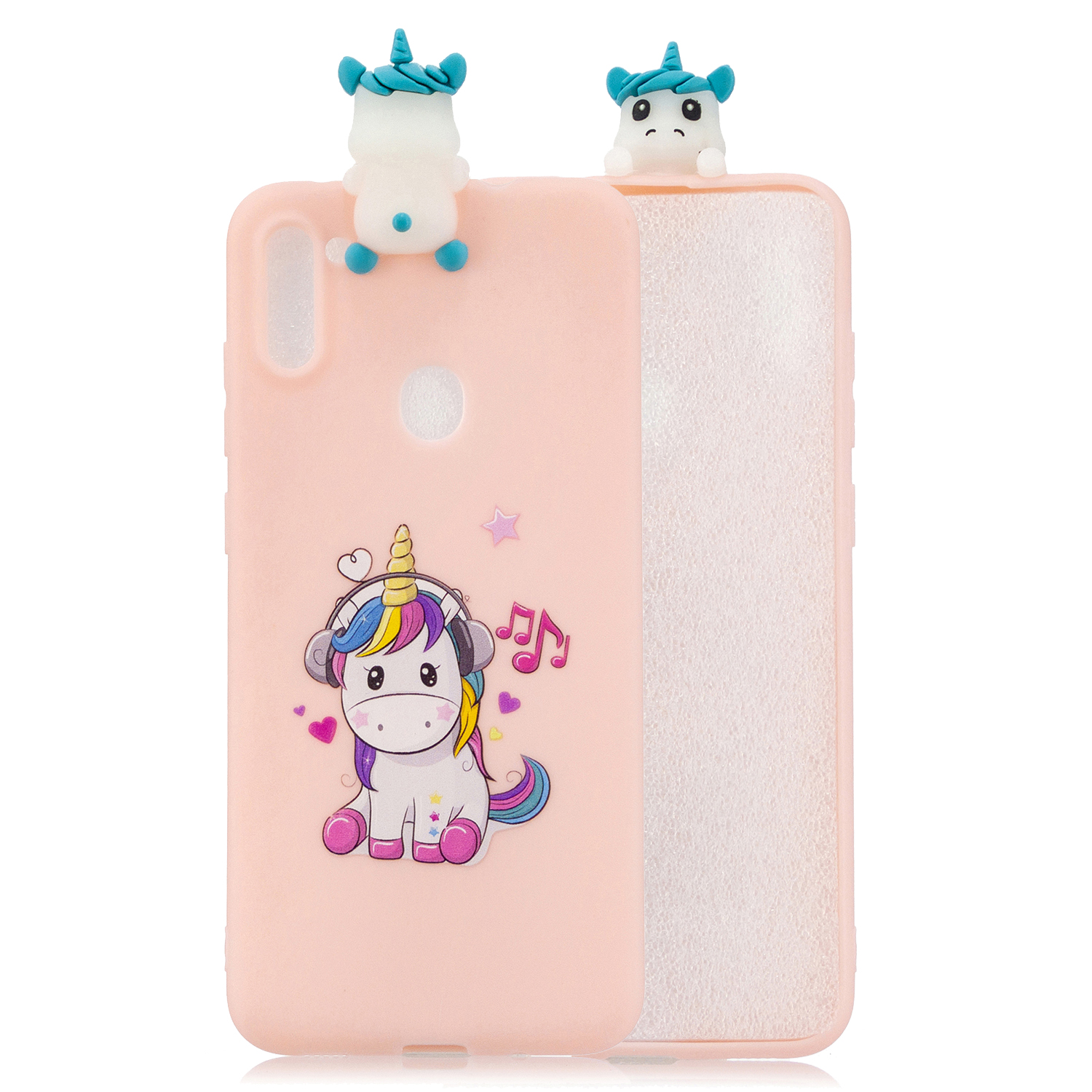 For Samsung A11 TPU Back Cover 3D Cartoon Painting Soft Mobile Phone Case Shell Music horse