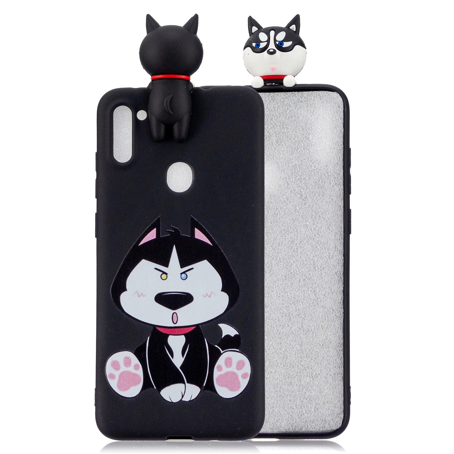 For Samsung A11 TPU Back Cover 3D Cartoon Painting Soft Mobile Phone Case Shell Dumb husky
