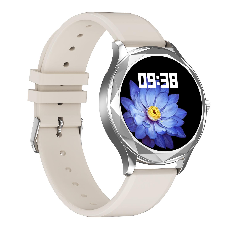 Dt86 Men Women Smart Watch Heart Rate Blood Pressure Monitor Sports Ip67 Waterproof Bluetooth Smartwatch 02 rubber belt-silver