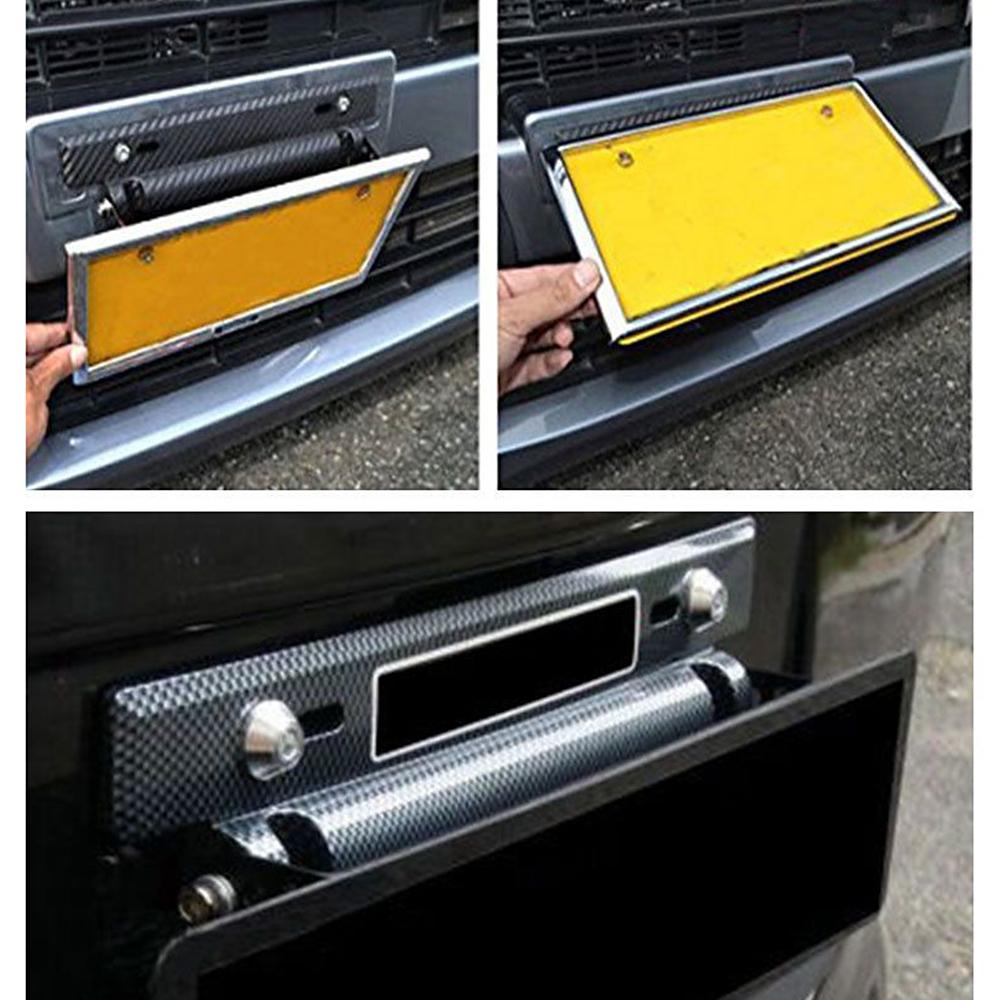 License Plate Frames Universal Adjustable Tail Light Bracket Mount License Plate Holder