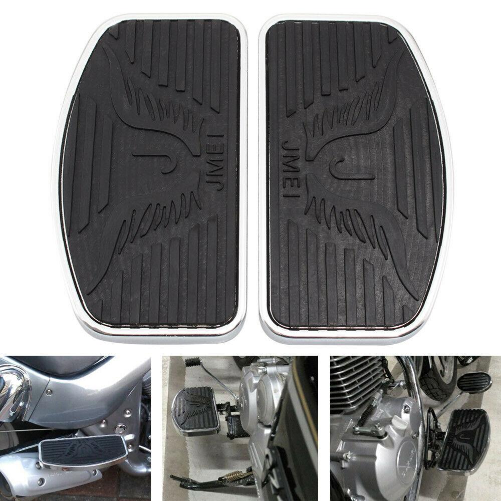 Motorcycle Billet MX Wide Foot Peg Pedal Rest Footpeg For Honda VTX 1300/1800 black