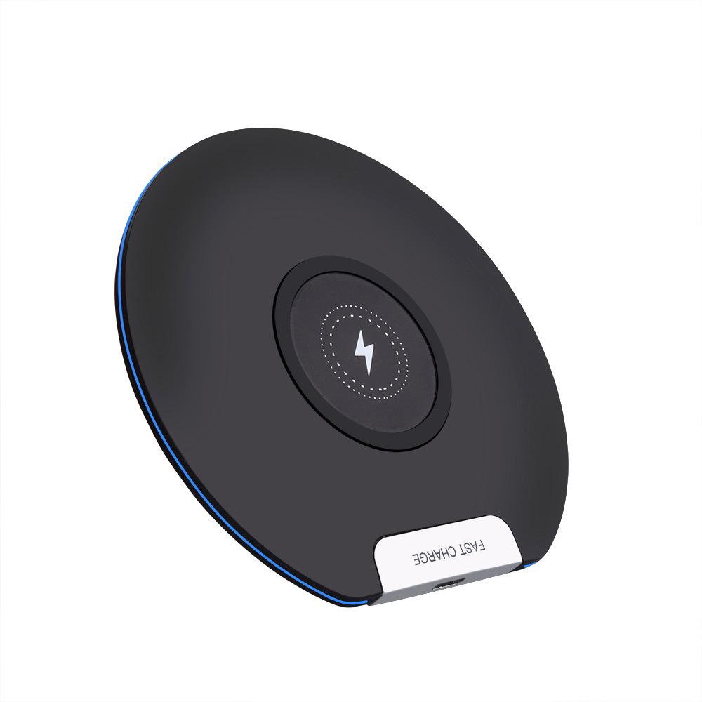 10W Fast Wireless Charger Micro USB General Qi Ultra slim Charging Pad   black