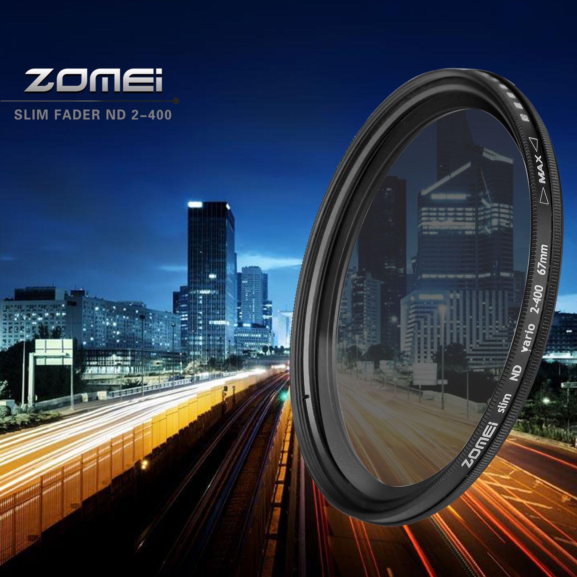 Adjustable Neutral Density Fader filter ND2-400 Camera LensFilter 62mm