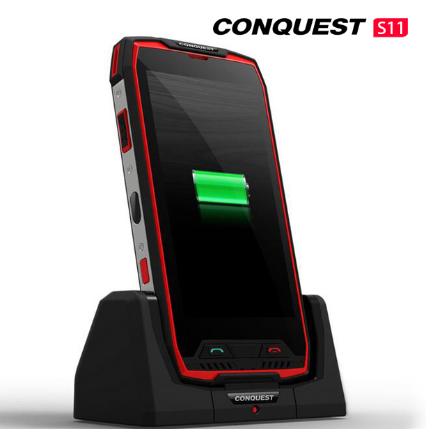 Conquest S11 7000mAh NFC OTG IP68 Shockproof 4G Smartphone Android 7.0 6GB RAM 128GB ROM Cell Phones Rugged Mobile Phone Red 6+128GB