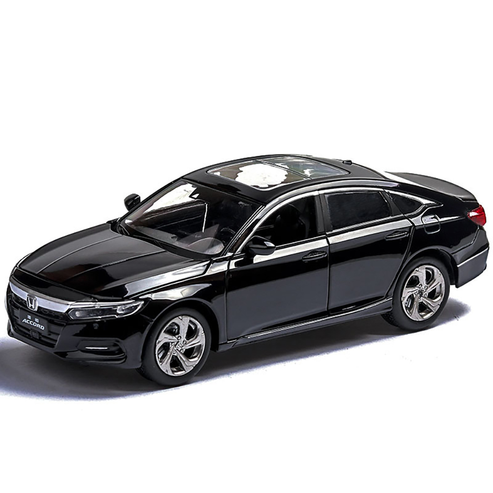 1:32 Light Sound Simulation Car Model 6 Doors Open Alloy Pull Back Auto Toy Collection black