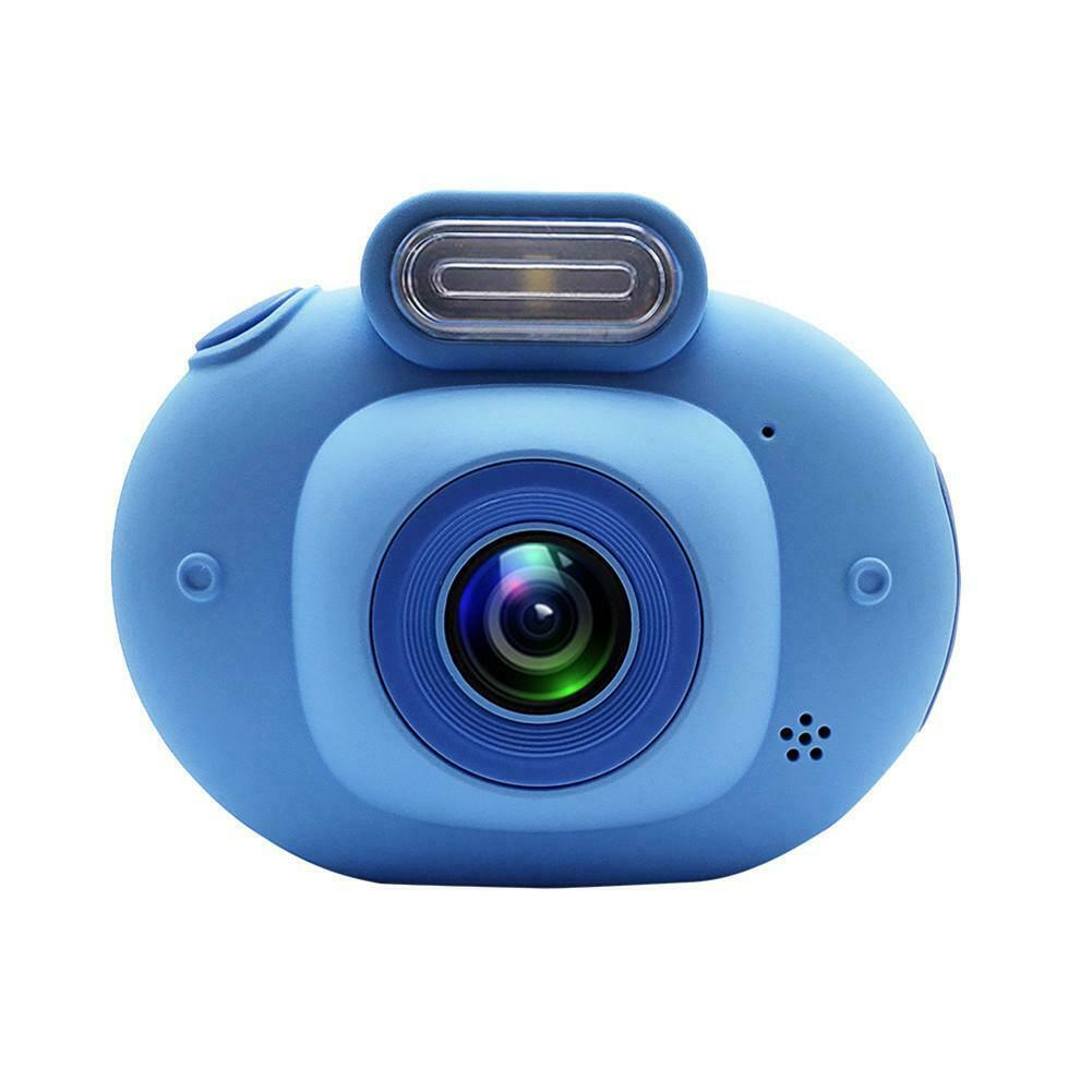 Children's Digital Camera 2.0inch IPS HD 1080p Mini Camcorder VCR Perfect Children Gift Blue
