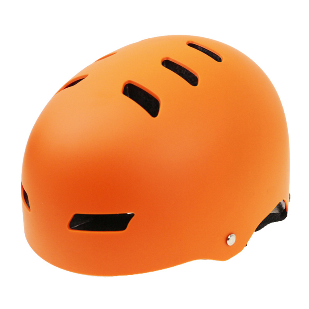 Skate Helmet Street Dance Extreme Sports Cycling Helmet Orange_M