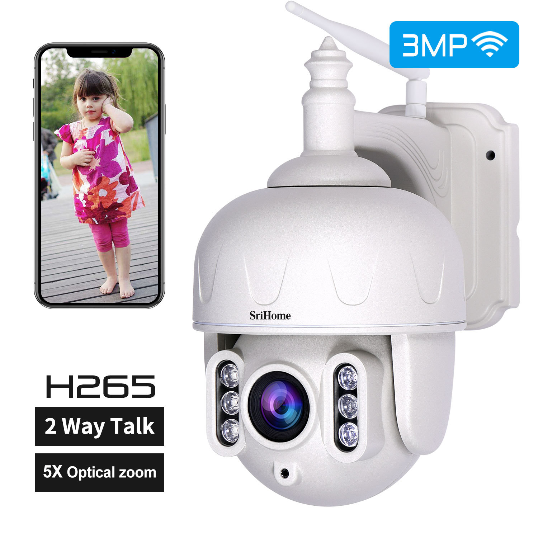 PTZ IP Camera Full HD Dome Outdoor Monitor with Speaker Wireless Surveillance CCTV Camera British regulatory