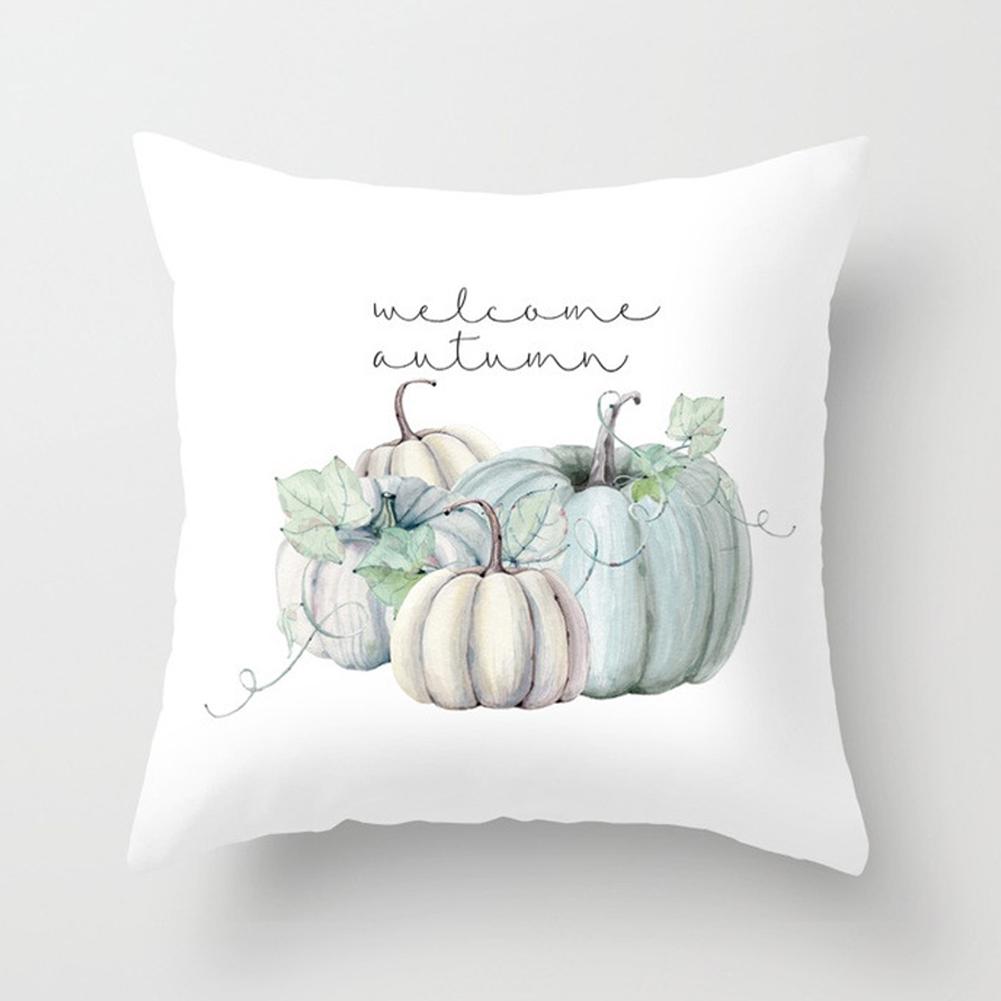 Thanksgiving Day Pumpkin Printed Throw Pillow Cover Pillowcases Decorative Sofa Cushion Cover DRD85-8_45*45cm