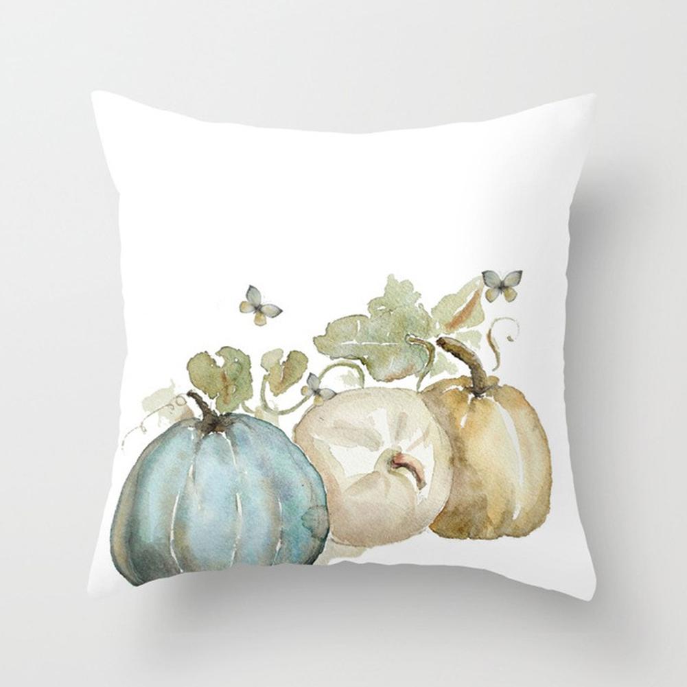 Thanksgiving Day Pumpkin Printed Throw Pillow Cover Pillowcases Decorative Sofa Cushion Cover DRD85-7_45*45cm