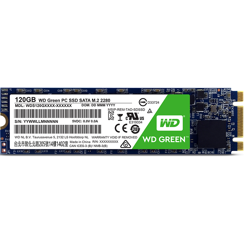 WD Green M.2 PC Solid State Drive 120GB SSD