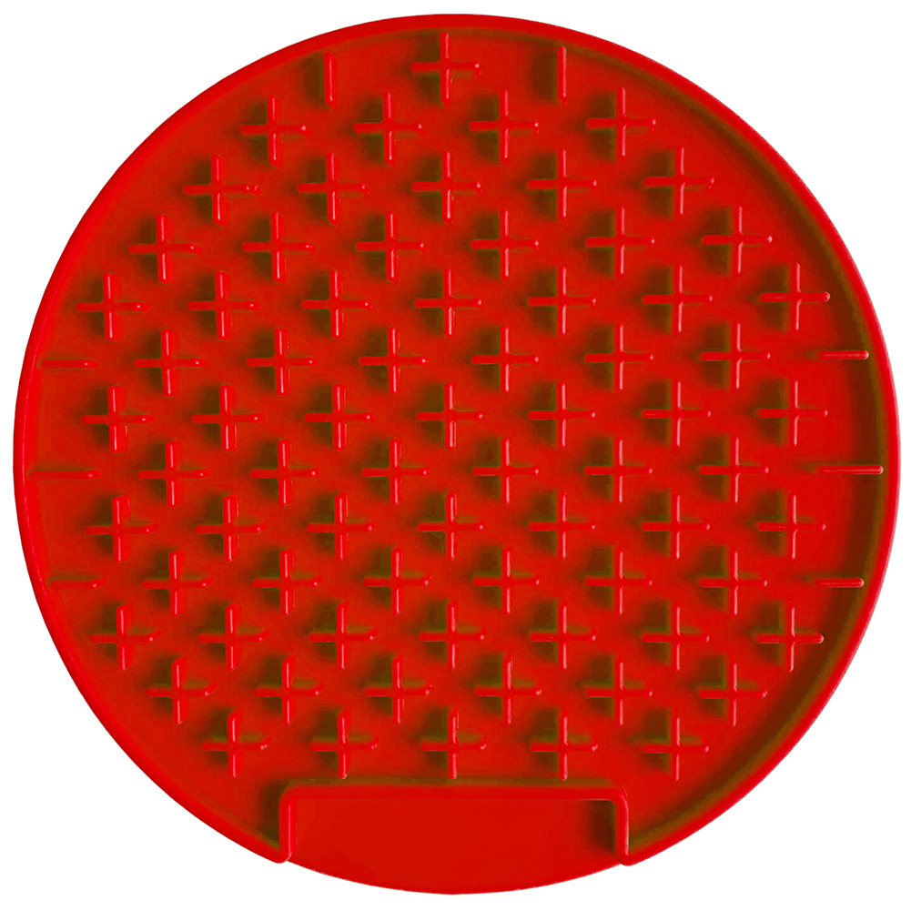 Pet Dog Lick Pad Silicone Round Cushion Slow Eating Quiet Training Soothing Mat Pet Supply