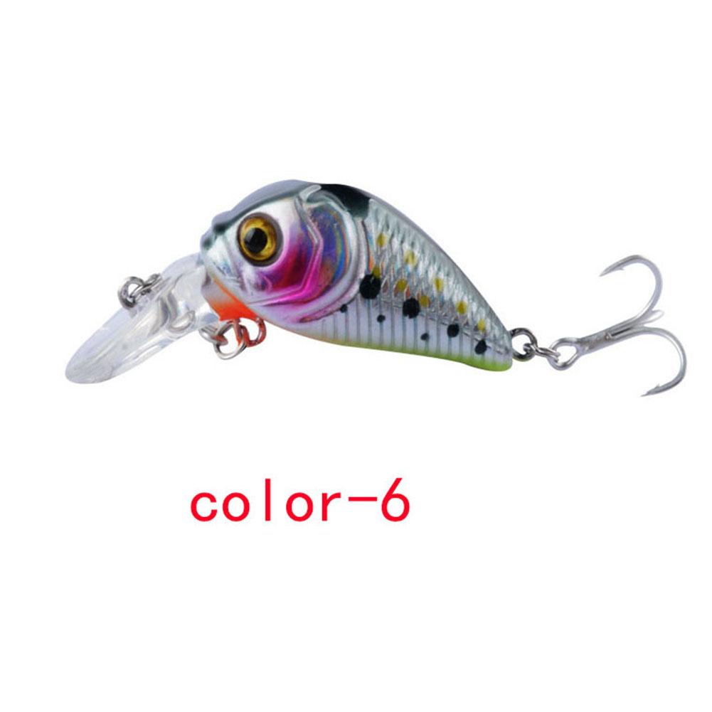 Crankbait Fishing Lure 7.3cm/8.22G Plastic Artificial Hard Bait 6# Hook Bassbaits Fishing Set Tackle color-6_7.3cm/8.22G