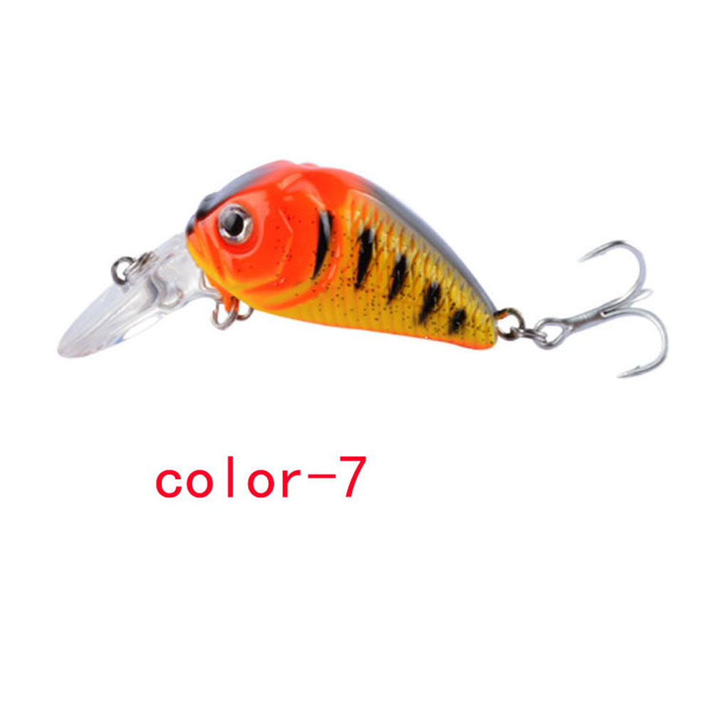 Crankbait Fishing Lure 7.3cm/8.22G Plastic Artificial Hard Bait 6# Hook Bassbaits Fishing Set Tackle color-7_7.3cm/8.22G
