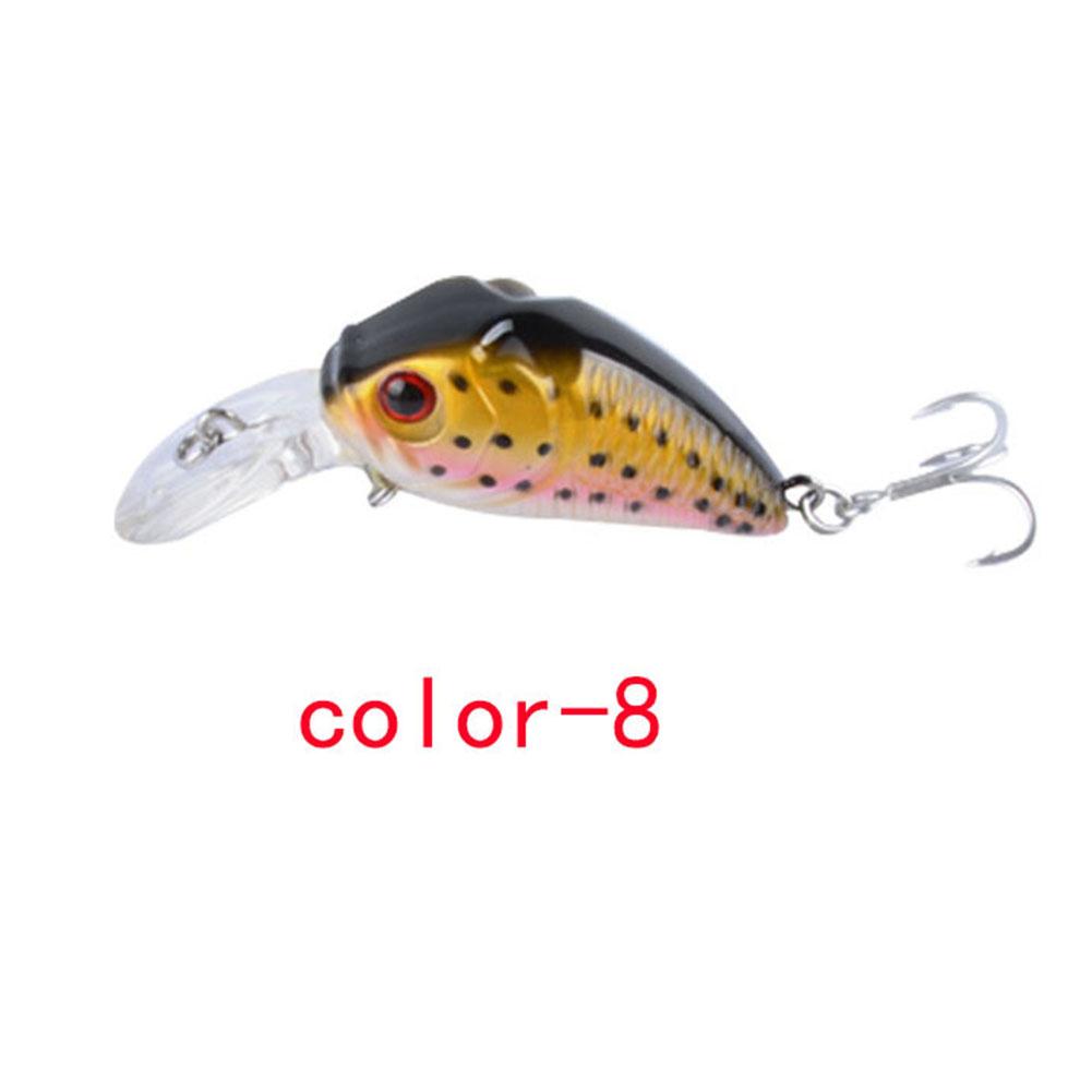 Crankbait Fishing Lure 7.3cm/8.22G Plastic Artificial Hard Bait 6# Hook Bassbaits Fishing Set Tackle color-8_7.3cm/8.22G