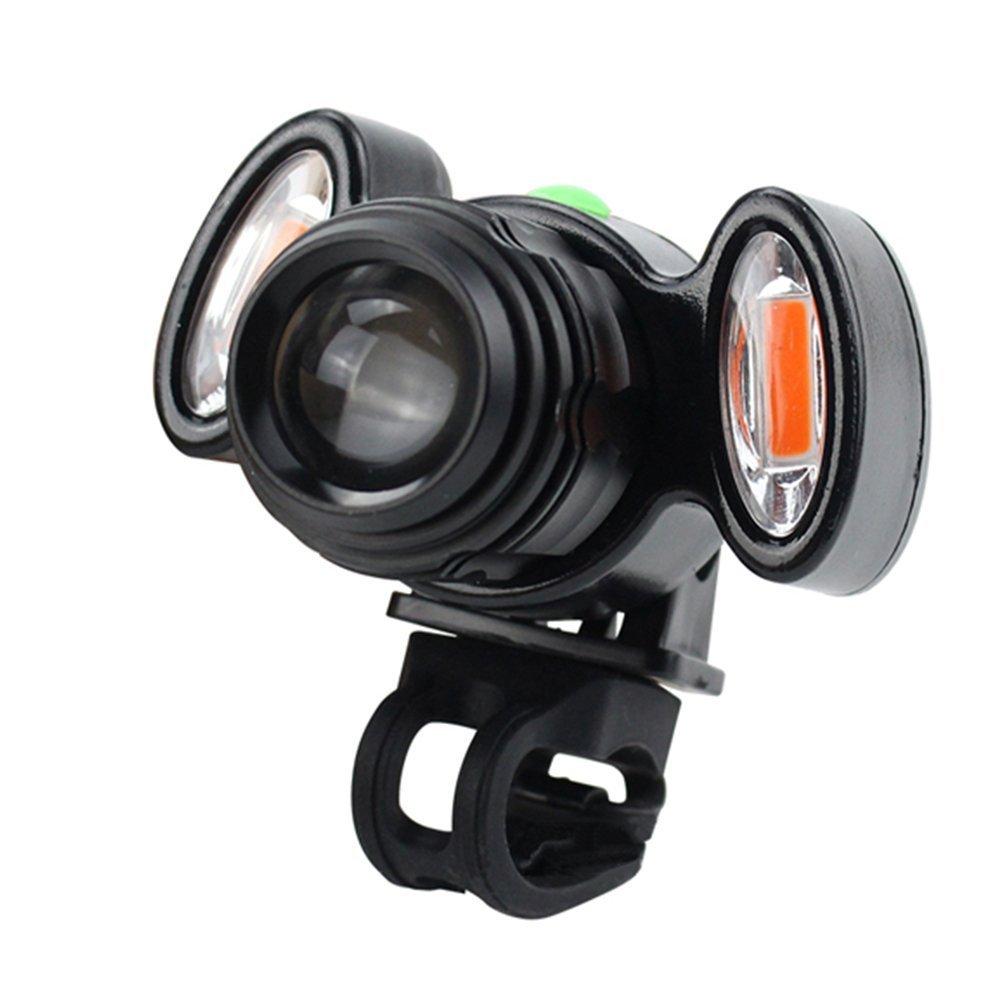 3000 Lumen USB Interface LED Bicycle Light Headlamp Bike Headlight 3 Mode Mountain Bike Road Bicycle Front Light black