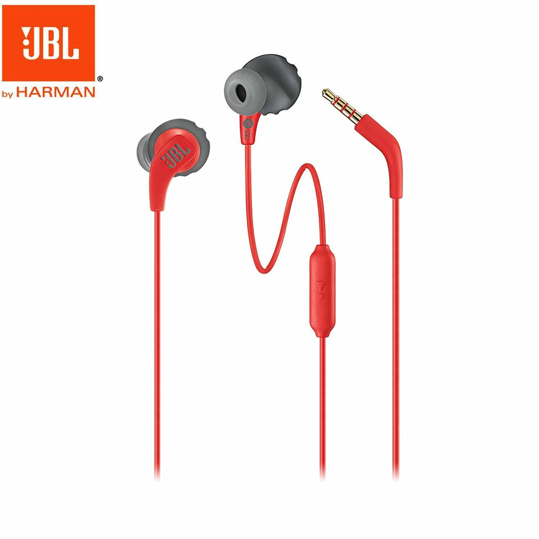JBL Endurance Run Wired Earphones In-line Control In-Ear Sweatproof Sports Earphone with Mic Portable Magnetic Earplug red