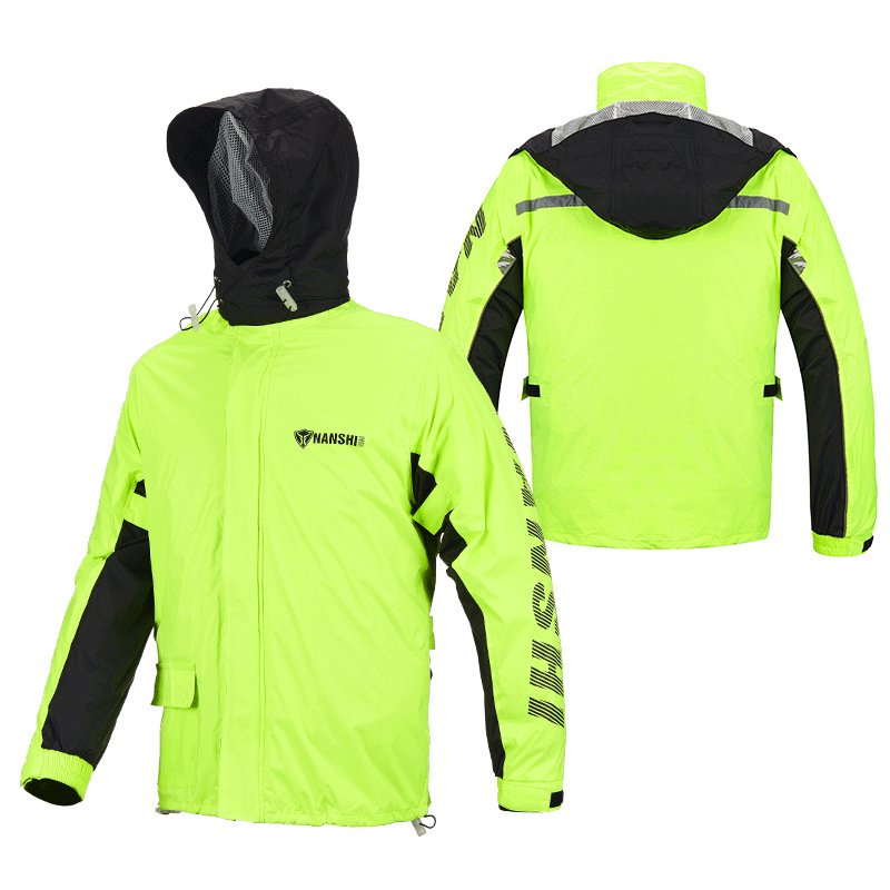 Raincoat Rainpants Suit Adult Split Raincoat Motorcycle Riding Water-proof Ultrathin Male Outdoor Hiking Raincoat Black and yellow suit_XXL
