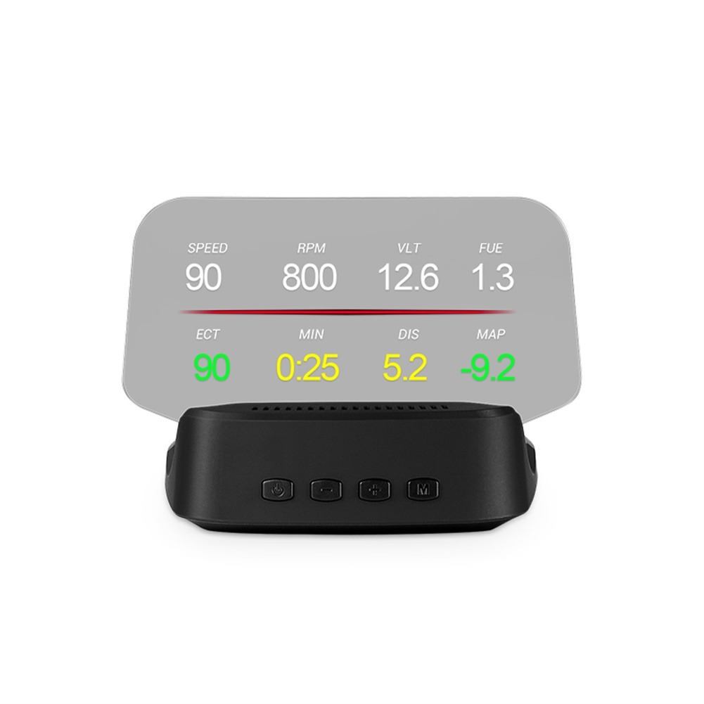Universal Car-loaded Head up Display HUD Portable OBD GPS Navigation Projector  black