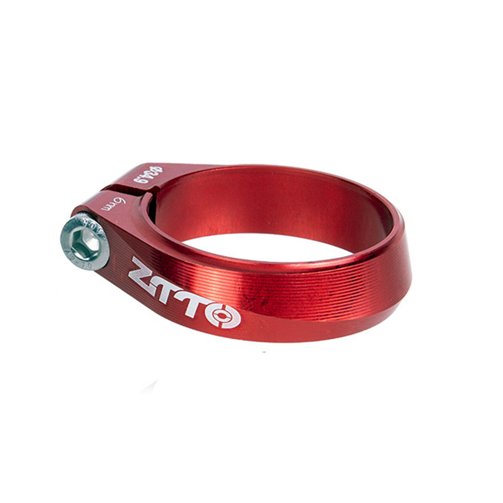 ZTTO CNC Seatpost Clamp High-strength Seat Post Tube Clip Thread lock Clamp For MTB Road Bike Bicycle red